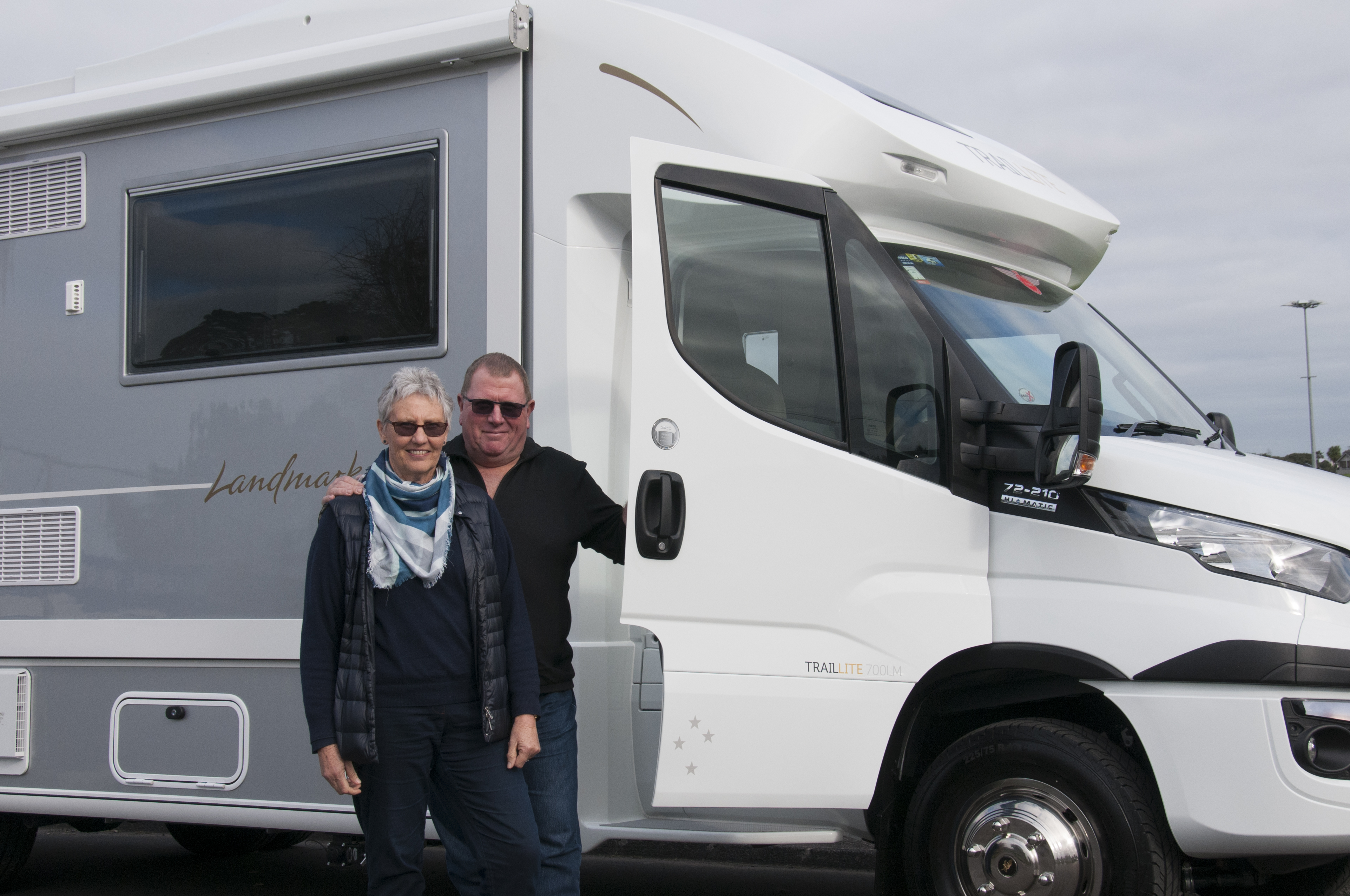 Beth and Peter are looking forward to exploring New Zealand in their state-of-the-art custom-built, Traillite motorhome