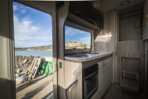 Motorhome Kitchen and Entrance