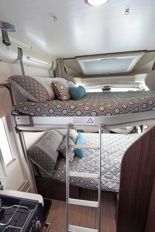 Benimar Mileo 202 lounge bed and overhead bed3