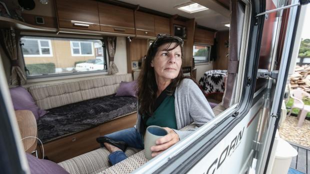 living in a caravan