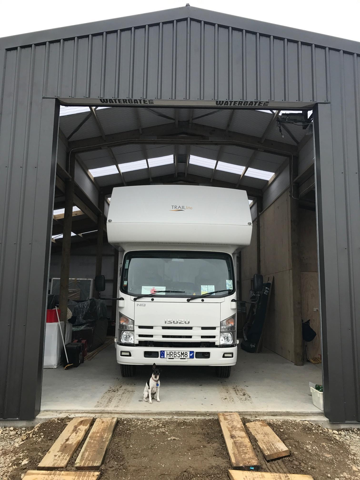 motorhome storage shed