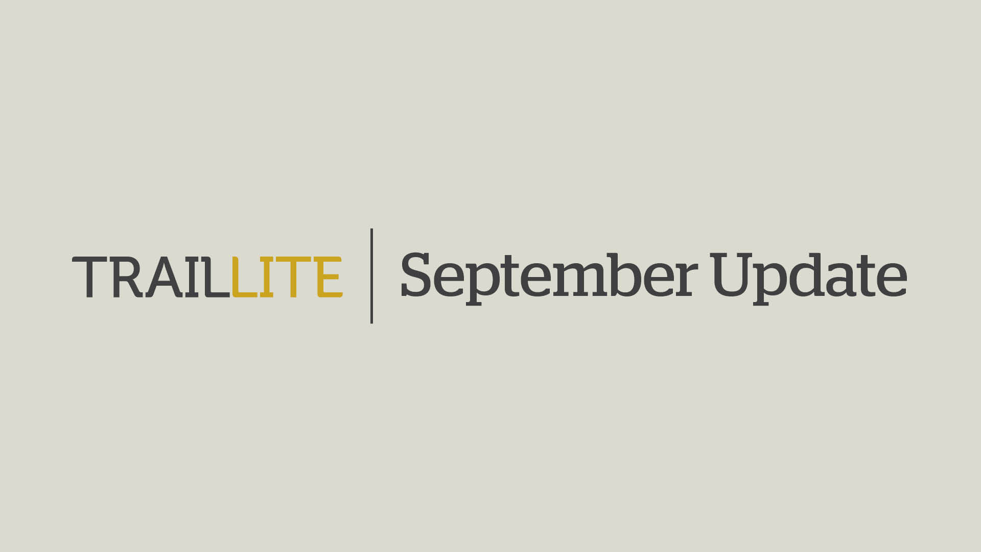 TrailLite Update
