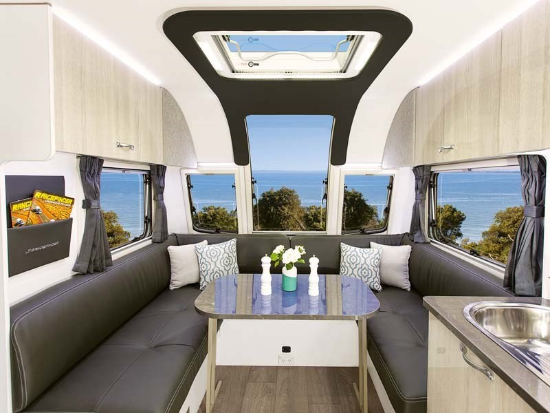 What are the different types of caravans layouts?